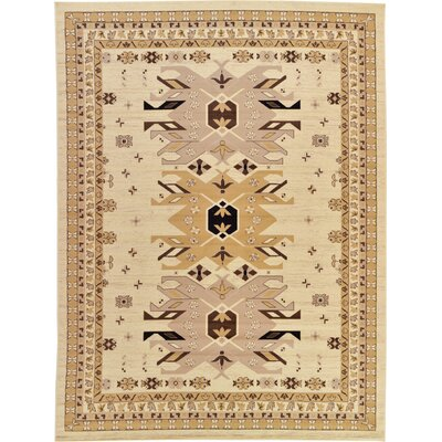 Valley Ivory/Beige Area Rug Rug Size: Rectangle 910 x 13