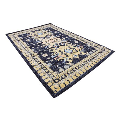 Valley Navy Blue Area Rug Rug Size: Rectangle 6' x 9'
