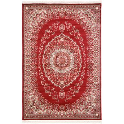 Jazlyn Red Oriental Area Rug Rug Size: 67 x 96