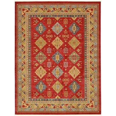 Jana Red Tibetan Area Rug Rug Size: Rectangle 9 x 12