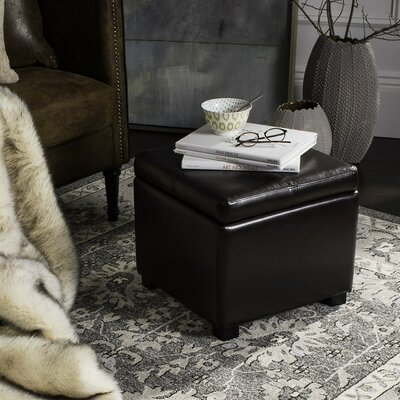 Clemens Leather Storage Ottoman Upholstery: Brown