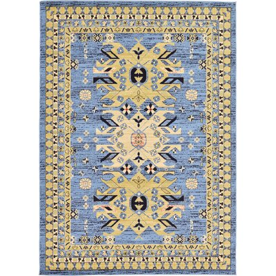 Valley Light Blue Area Rug Rug Size: 7 x 10