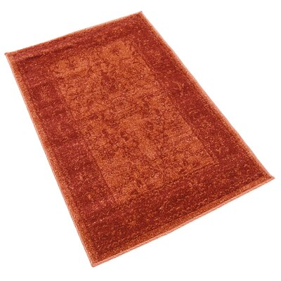Aledo Rust Red Area Rug Rug Size: Rectangle 22 x 3