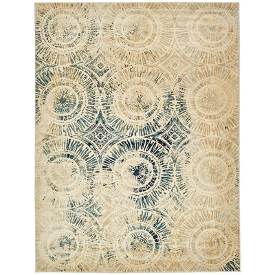 Jani Traditional Beige Area Rug Rug Size: Rectangle 5 x 8