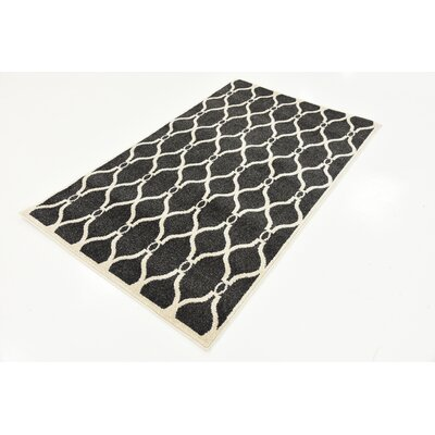 Molly Black Area Rug Rug Size: Rectangle 33 x 53