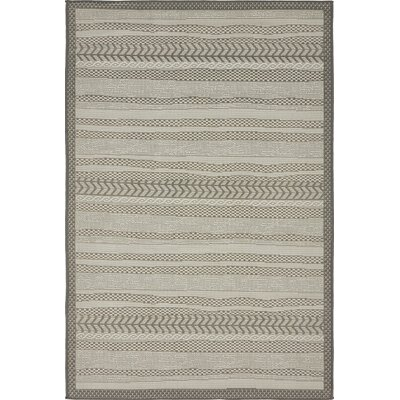 Antoine Gray Outdoor Area Rug Rug Size: 4 x 6