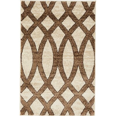 Greene Brown/Beige Area Rug Rug Size: Rectangle 2 x 3