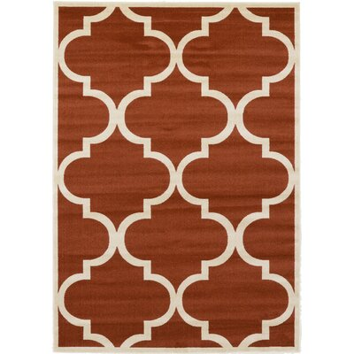 Moore Rust Red Area Rug Rug Size: 7 x 10