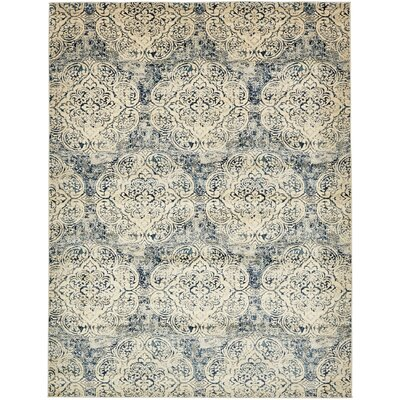 Jani Beige/Blue Abstract Area Rug Rug Size: 9 x 12