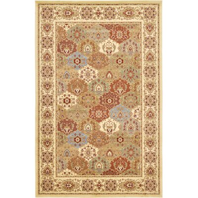 Janiyah Cream Area Rug Rug Size: Rectangle 106 x 165