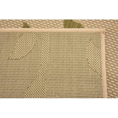 Marissa Beige/Green Outdoor Area Rug Rug Size: Rectangle 22 x 3