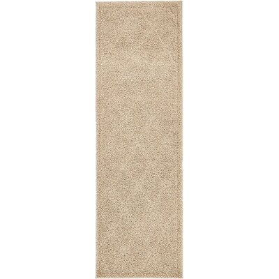 Catherine Machine Woven Beige Area Rug Rug Size: Runner 2 x 67