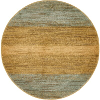 Simsbury Brown Area Rug Rug Size: Round 6