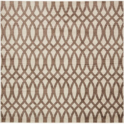 Greene Brown/Beige Area Rug Rug Size: Square 8
