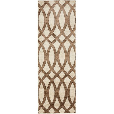 Greene Brown/Beige Area Rug Rug Size: 2 x 6