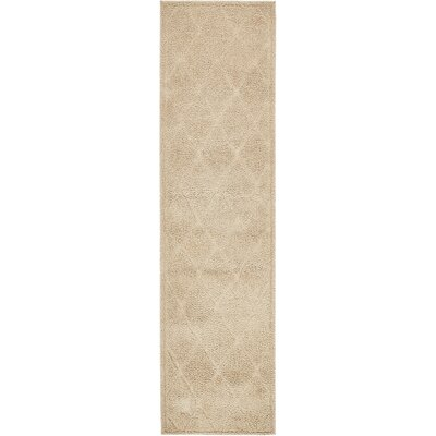 Chester Machine Woven Beige Area Rug Rug Size: Runner 27 x 10
