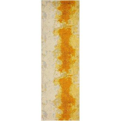 Tavistock Yellow Area Rug Rug Size: Runner 22 x 67
