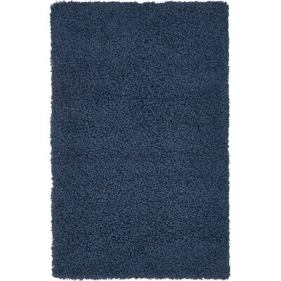 Falmouth Navy Blue Area Rug Rug Size: Rectangle 33 x 53