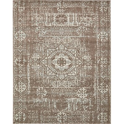 Nella Light Brown Area Rug Rug Size: 8 x 10