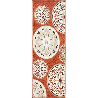 Niagara Orange/Beige Indoor/Outdoor Area Rug Rug Size: Runner 2 x 6