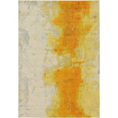 Tavistock Yellow Area Rug Rug Size: Rectangle 7 x 10