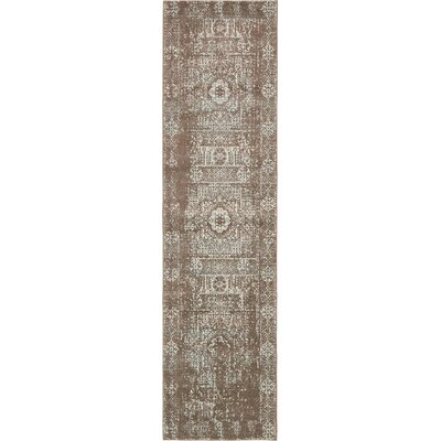 Margie Light Brown Area Rug Rug Size: Runner 27 x 10