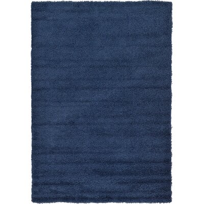 Falmouth Navy Blue Area Rug Rug Size: Rectangle 6 x 9