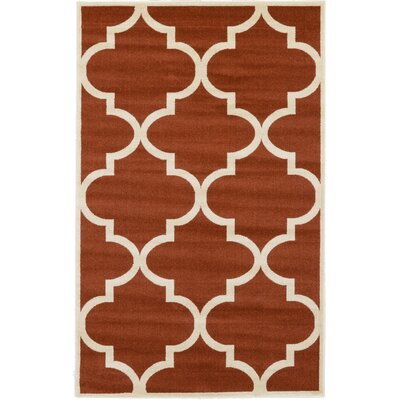 Moore Rust Red Area Rug Rug Size: Rectangle 5 x 8