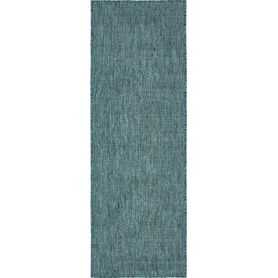 New Haven Teal Outdoor Area Rug Rug Size: 7 x 10