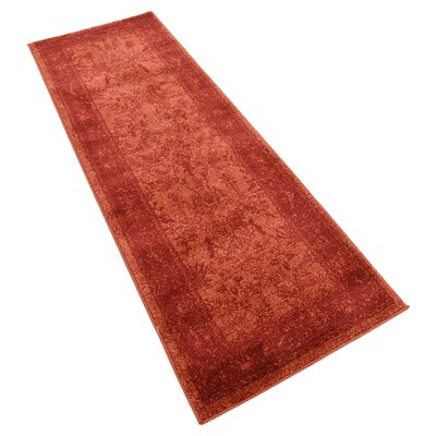 Shailene Rust Red Area Rug Rug Size: Runner 22 x 6