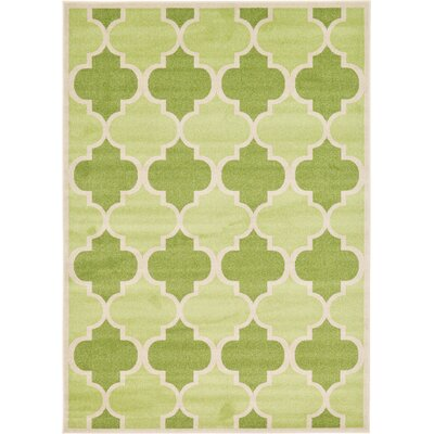 Moore Green Area Rug Rug Size: Rectangle 7 x 10