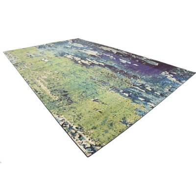 Tavistock Green/Navy Blue Area Rug Rug Size: Rectangle 106 x 165