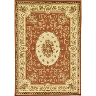 Oskar Brick Red Area Rug Rug Size: Rectangle 7 x 10