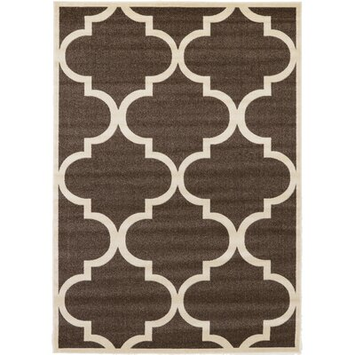 Moore Brown Area Rug Rug Size: Rectangle 33 x 53
