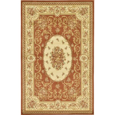 Oskar Brick Red Area Rug Rug Size: Rectangle 5 x 8