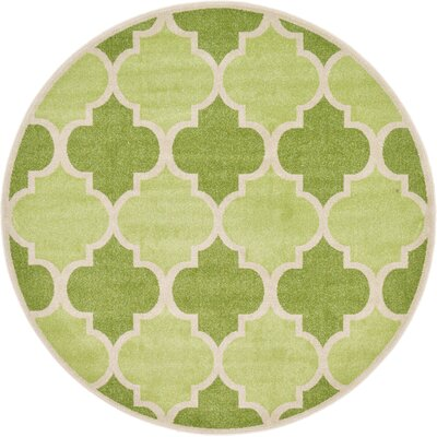 Moore Green Area Rug Rug Size: Round 6