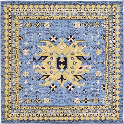 Valley Light Blue Area Rug Rug Size: Square 8