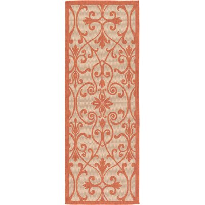 Staffordshire Beige Indoor/Outdoor Area Rug Rug Size: Runner 22 x 6