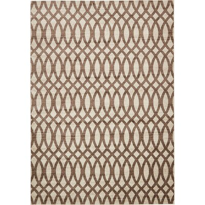Greene Brown/Beige Area Rug Rug Size: Rectangle 8 x 116
