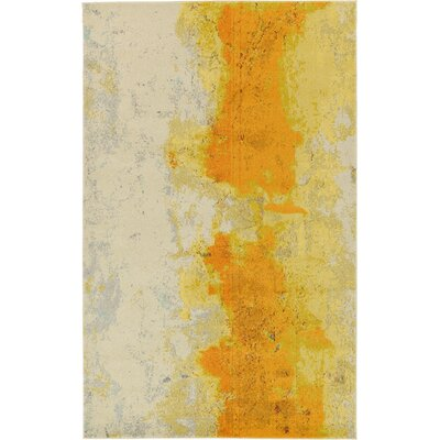 Tavistock Yellow Area Rug Rug Size: Rectangle 5 x 8
