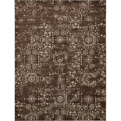 Isabel Brown Area Rug Rug Size: 9 x 12