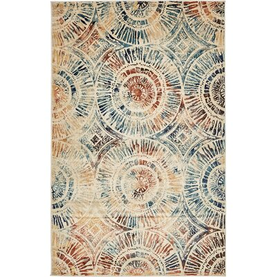 Jani Beige Abstract Area Rug Rug Size: 5 x 8