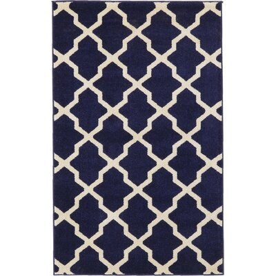 Moore Blue Area Rug Rug Size: Rectangle 33 x 53
