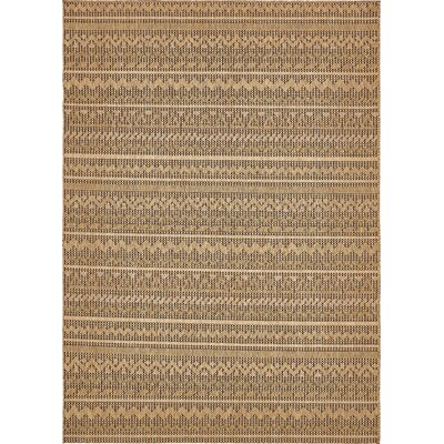 Lukas Light Brown Outdoor Area Rug Rug Size: Rectangle 8 x 114