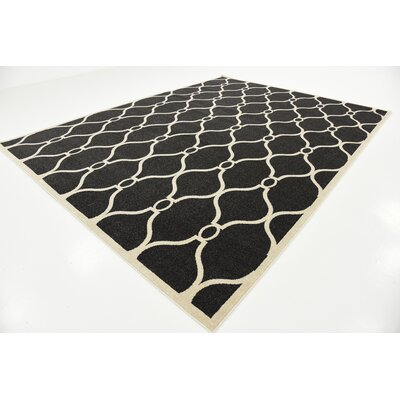 Molly Black Area Rug Rug Size: Rectangle 9 x 12