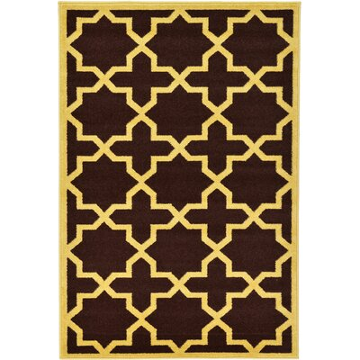 Moore Brown Area Rug Rug Size: 4' x 6'