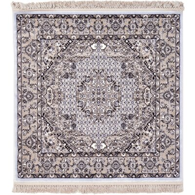 Layton Light Blue Area Rug Rug Size: Square 4