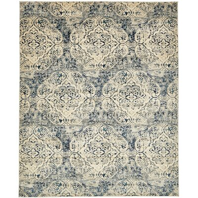 Jani Beige/Blue Abstract Area Rug Rug Size: 8 x 10