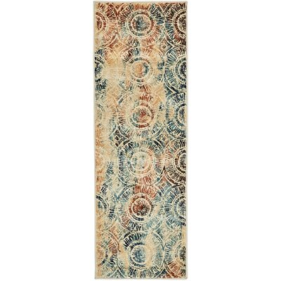 Jani Beige Abstract Area Rug Rug Size: Runner 2 x 6