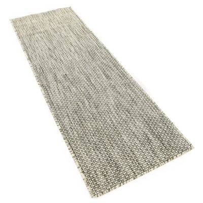 Jacklyn Light Gray Indoor/Outdoor Area Rug Rug Size: Runner 2 x 6